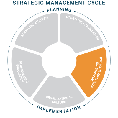 integrating strategy with business as usual